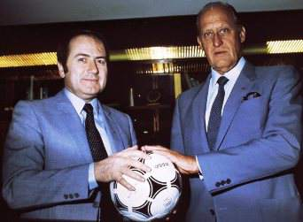 [Picture of Sepp Blatter and Joao Havelange]